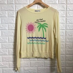 Wildfox maize yellow this Doll Neds a vacation